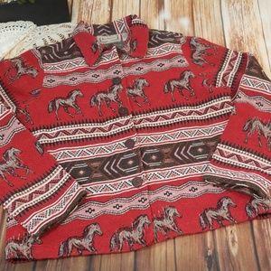 Vintage Horse Embroidered Tapestry Jacket